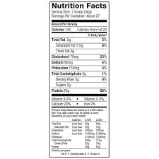 Dymatize Elite 100% Whey Protein Nutritional label
