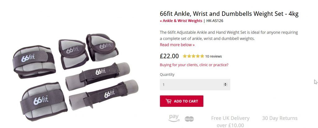 66 fit weights ankle