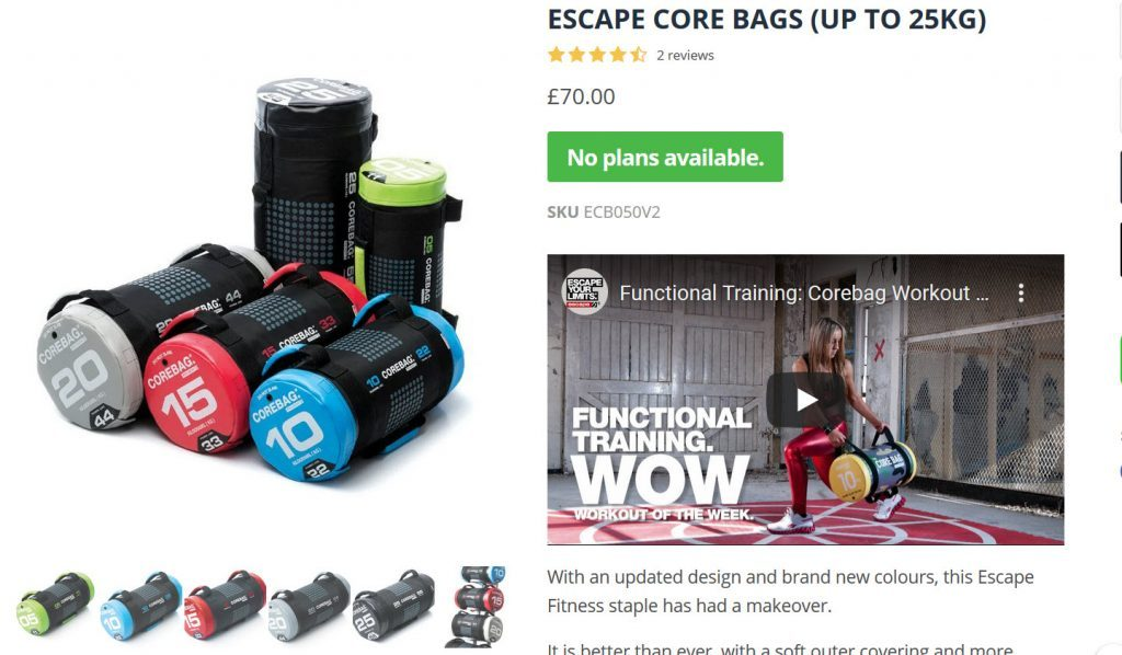 Best Fitness core bags