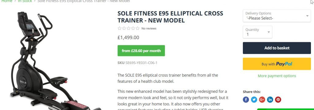 Best Fitness sole Cross trainer