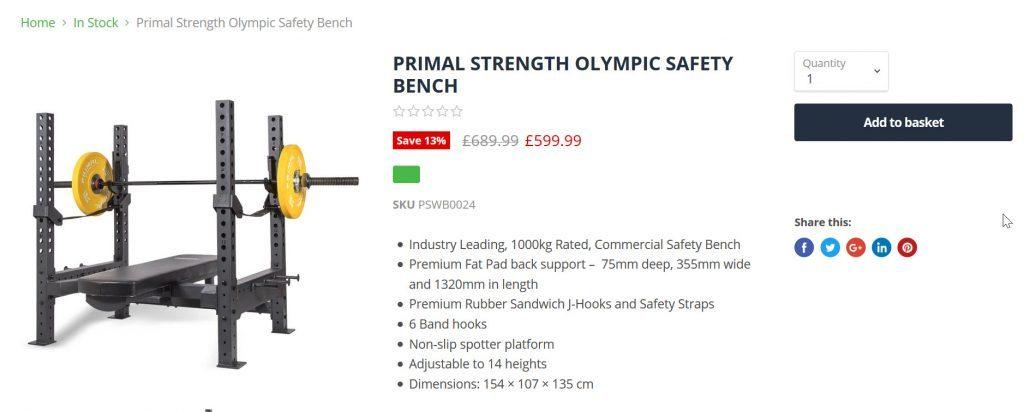 Best fintess primal weight bench