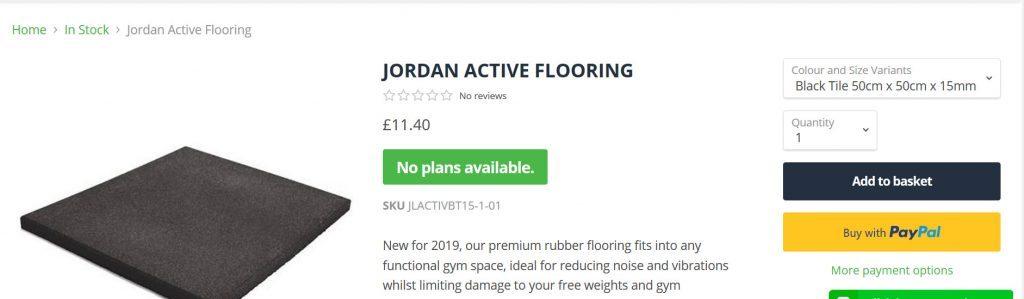 best fintess Jordan flooring
