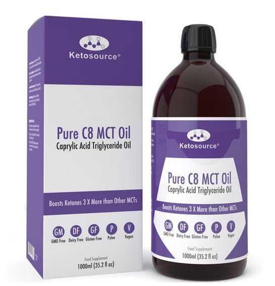 Ketosource C8 MCT Oil 100oml bottle