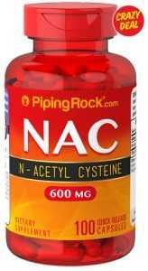 Piping Rock NAC 600mg 100 Capsules
