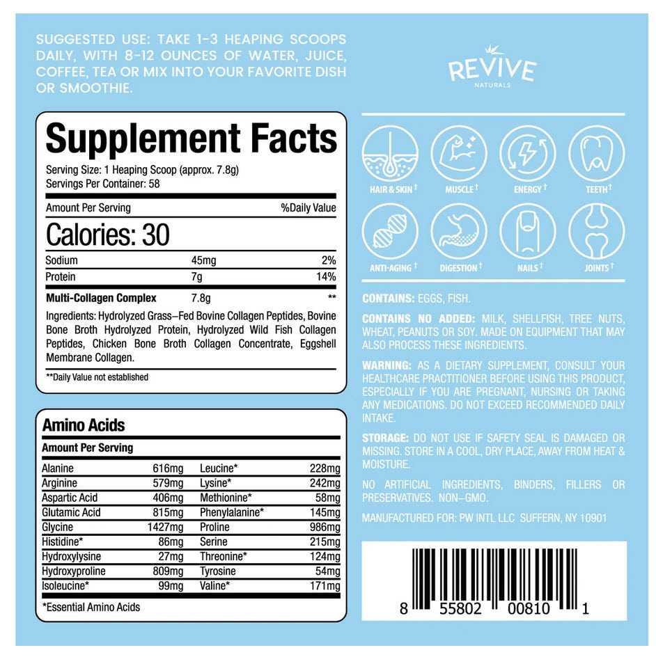 Revive Naturals Collagen Protein Powders