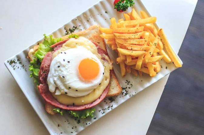 Steak Hache and Egg