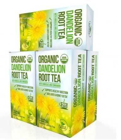 Organic Dandelion Tea Detox Kissme Organics
