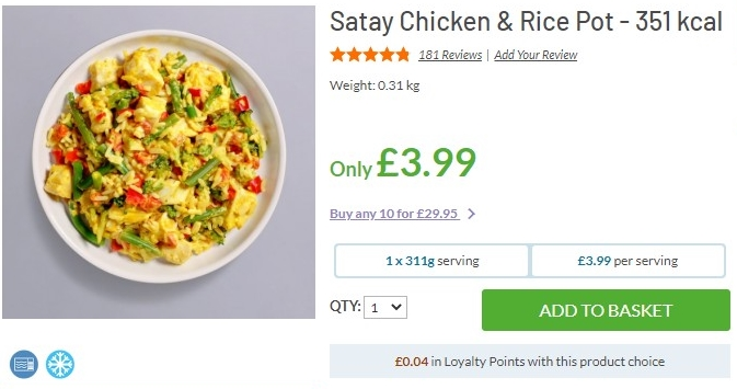 Satay Chicken and Rice Pot MuscleFood