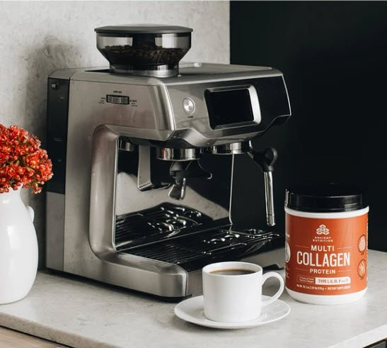Dr Axe Collagen in the coffee