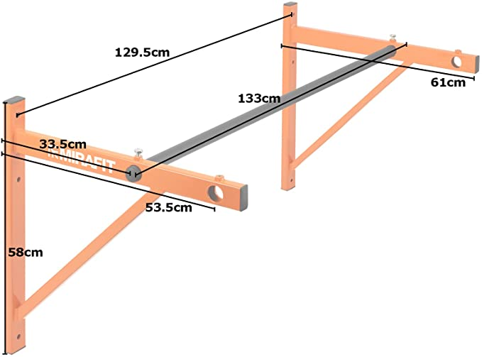 Mirafit Commercial Wall Mounted Pull Up Bar UK