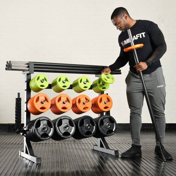 Mirafit Studio Weight Rack with 12 Studio Pump Sets Review