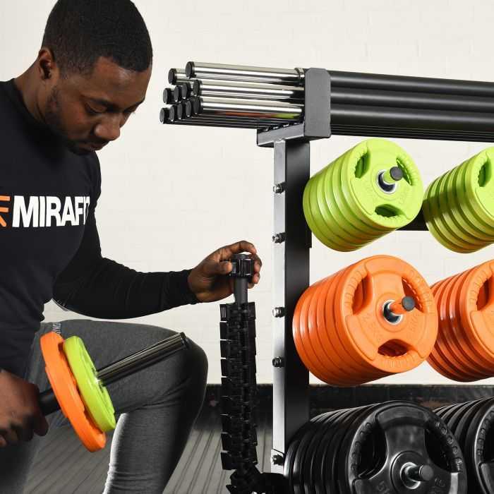 Mirafit Studio Weight Rack with 12 Studio Pump Sets UK