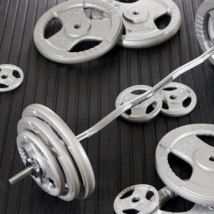 Mirafit Cast Iron 1 Olympic Tri Grip Weights Price UK