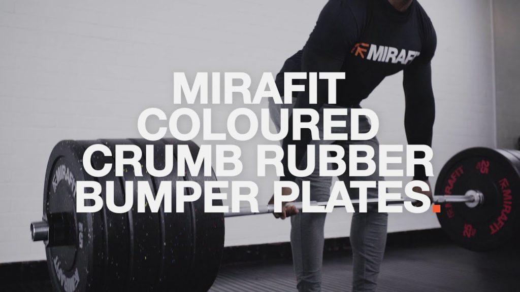 Mirafit Coloured Crumb Rubber Olympic Bumper Plates UK