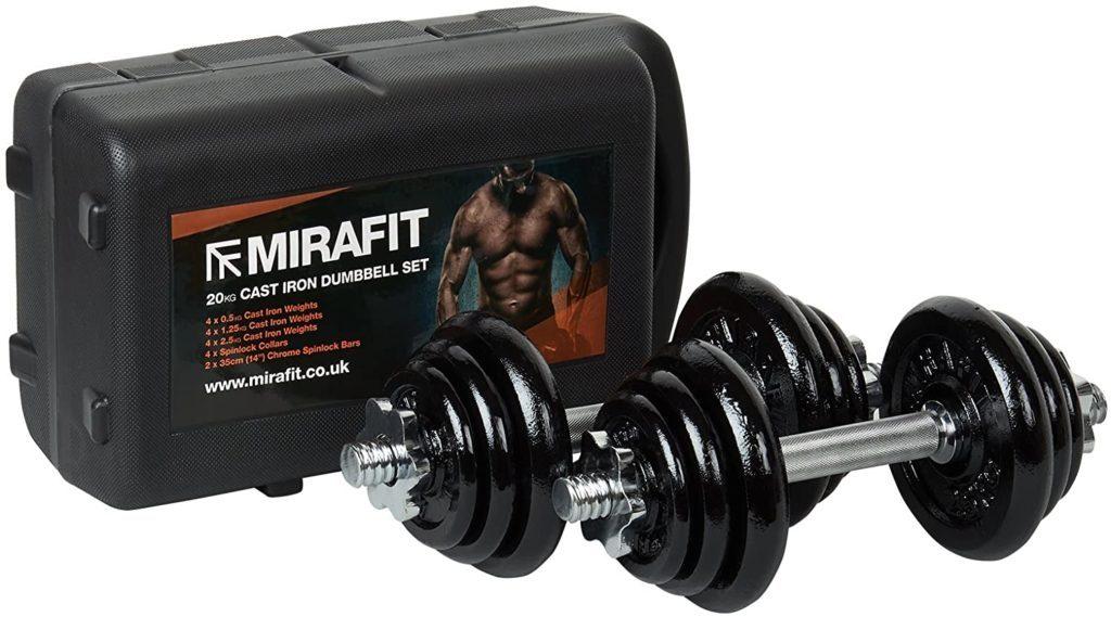 Mirafit Cast Iron Adjustable Dumbbells